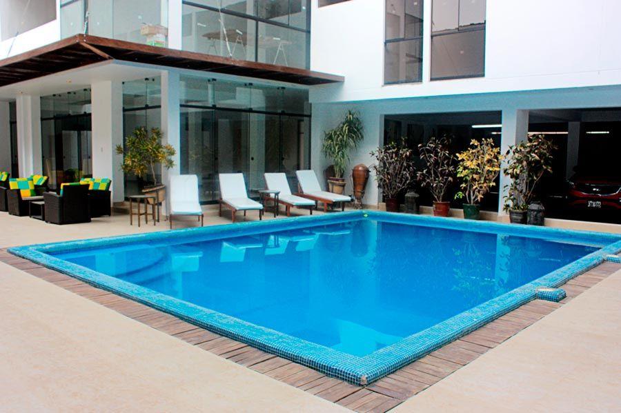 hotel con piscina en ica